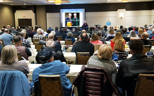 Landstar owner operators continually attend safety meetings and conferences to learn the latest in best-safety practices, regulatory changes, and Landstar's latest safety statistics.