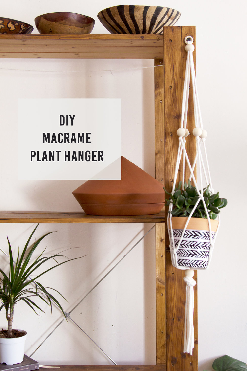 Macrame Plant Hanger Tutorial Button And Blue