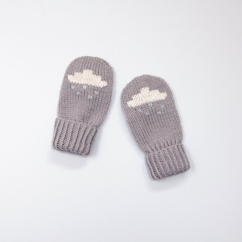 Rain Cloud Mittens