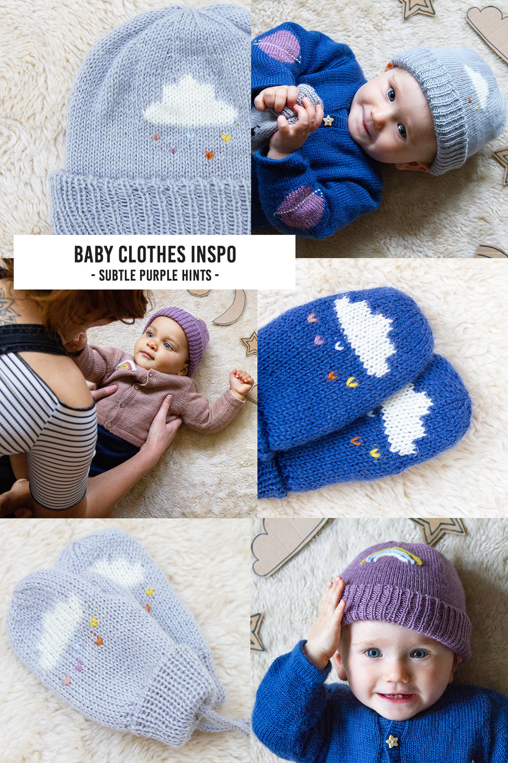 Subtle purple baby clothes ideas