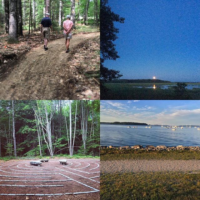 From Bethel to Saco, from labyrinths to urban trails, Maine has so many beautiful places to go for a walk! @mahoosuclandtrust @portlandmetrails @brunswicktopsham