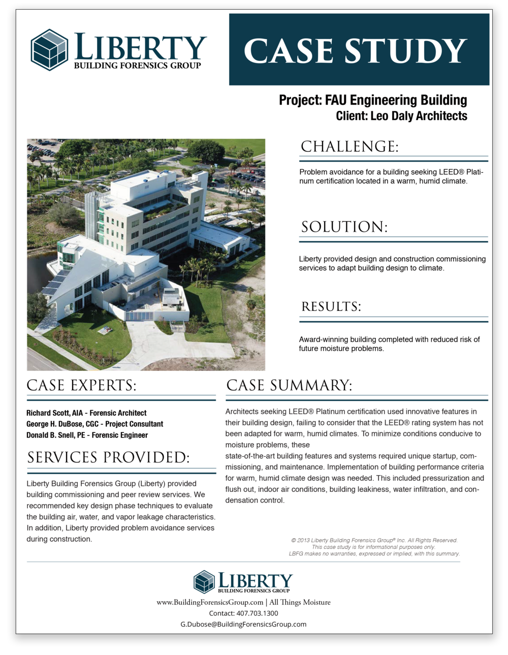 Case Study FAU Engineering Building
