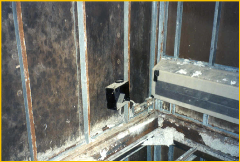 Figure 1:  Here is a three-story modular hotel that had to undergo a complete renovation due to outside air infiltration-related mold and corrosion problems.