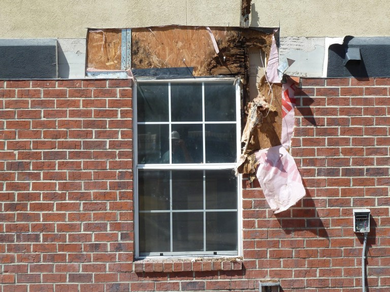 The extent of damage to the wood structure was significant, despite not manifesting itself on the interior drywall or exterior of the envelope.