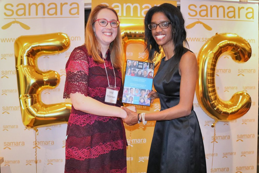 - Our friend and founder of Helping Hands App, Janelle Hinds, won Samara's Everyday Political Citizen Award! Learn more about Janelle's work here. Photo credit goes to Samara.