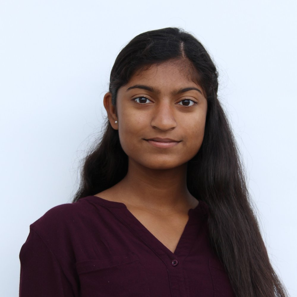 Ravicha Ravinthiran - Ravicha is currently a grade 12 student with a passion for science, politics, business and female empowerment! She is currently the president of the Because I am a Girl Club at her school, has her own business and is involved with many initiatives in her community. She currently works as a Student Host at the Ontario Science Centre.