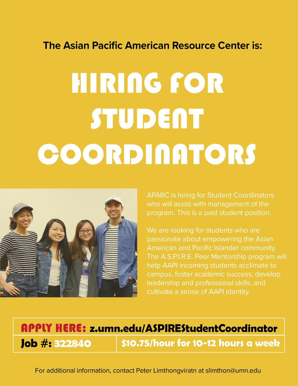 APARC Student Coordinator — Asian-American Student Union