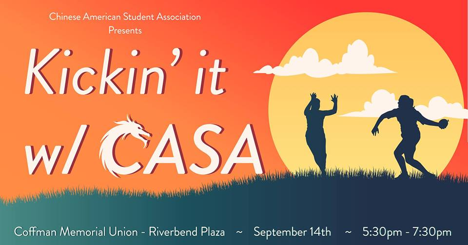 Kickin' it w/ CASA - Memorial Union Riverbend Plaza Fri. Sept. 14 5:30PM-7:30PM