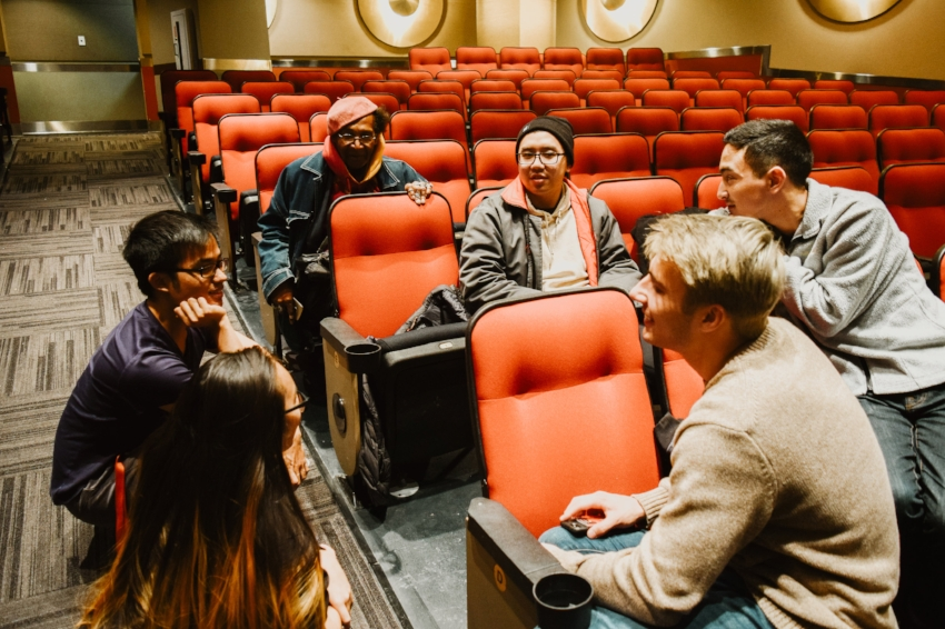 A group of students discussing Asian-American media representation at ASU's CRA Film Showing & Discussion event that took place on Nov. 9th.