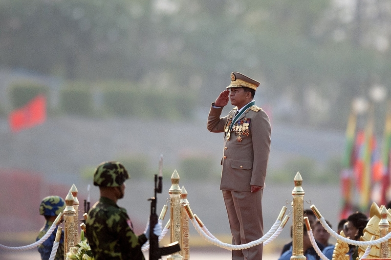 """Senior General Min Aung Hlaing, Myanmar's defence commander in chief has openly stated before that, """"We openly declare that absolutely, our country has no Rohingya race."""" (CreditCreditYe Aung Thu/Agence France-Presse — Getty Images)"""
