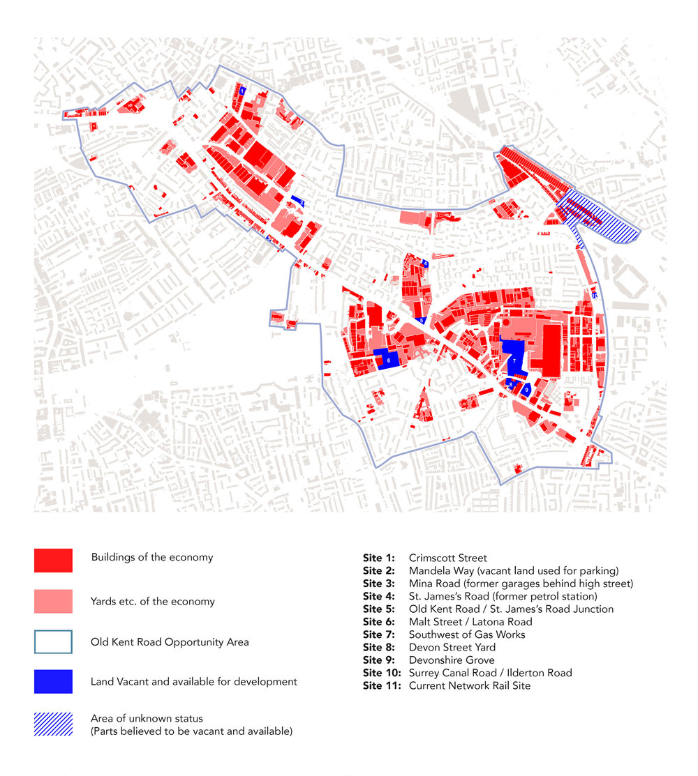 Map of the Economy and Vacant Sites.