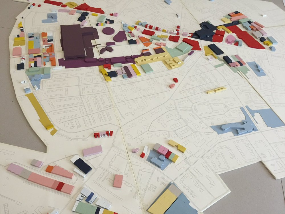 Mapping the economy in a scale model of the Old Kent Road.