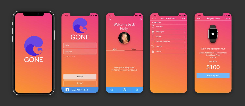 Gone Mobile App Derek Hatfield Design