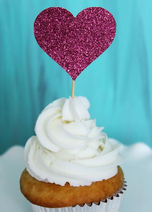 Cupcake Topper - Hearts (3)