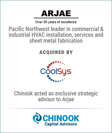 Chinook Capital Advisors represents owner of Oregon-based