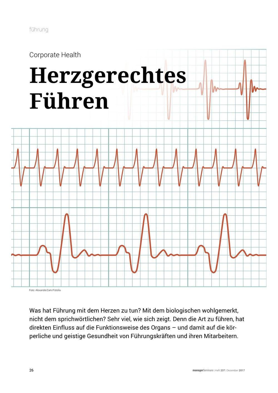 corporate health: Herzgerechtes führen managerseminare 12/17