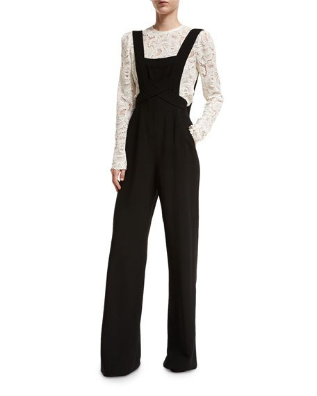 A.L.C. Harlow Crepe Overall Jumpsuit