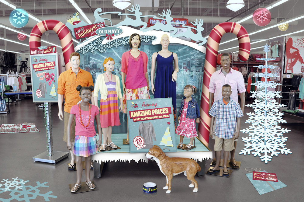 old navy in store christmas campaign loeswick design