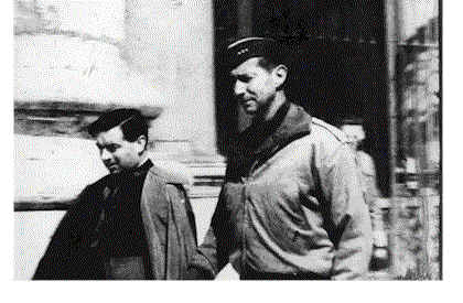 Msgr. Walter Carroll with Gen. Mark Clark Visiting Pope Pius XII, 1944