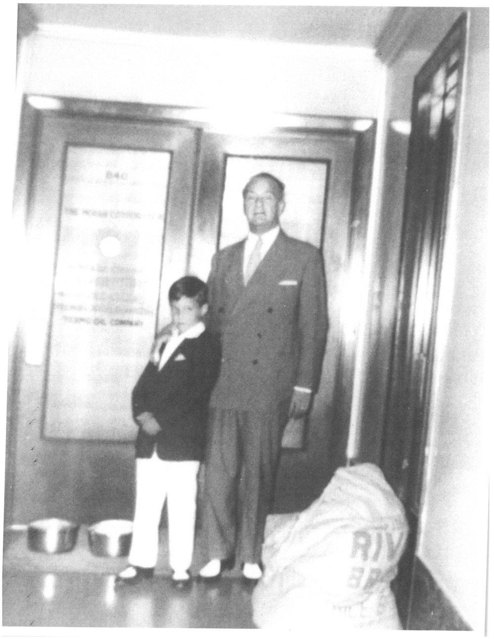 W.T. Moran with his grandson, Patrick Moran