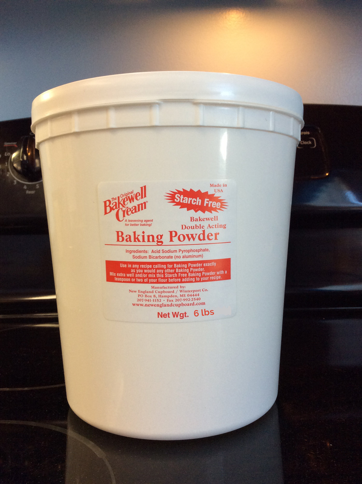 Starch-free Bakewell Baking Powder 6lb Tub — New England Cupboard