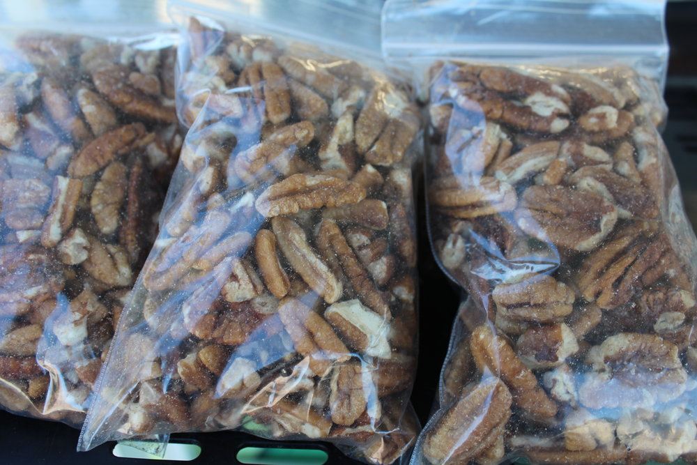 Pecans, $5  5oz of pecans sourced from west side of Savannah, GA by Alake's GA Pecans.