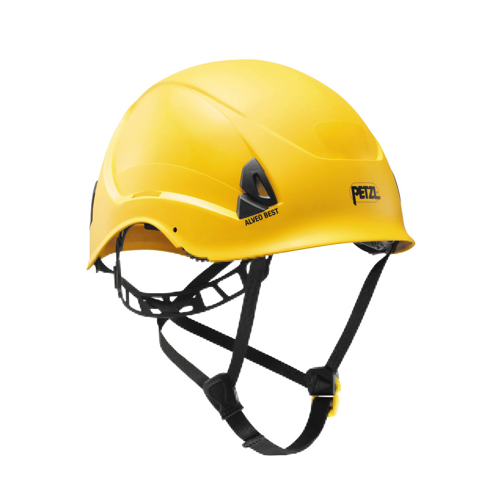 PETZL ALVEO BEST HELMET - Featuring a strong chinstrap, the ALVEO BEST helmet is a very lightweight helmet for workers at height.