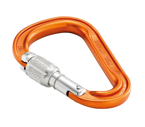 Petzl Attache H-Frame Carabiner w/ Screw-Lock - Thanks to its compact shape and SCREW-LOCK locking system, the ATTACHE is designed for multiple uses related to belaying