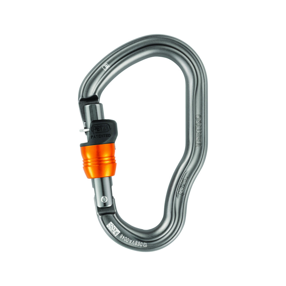 Petzl Vertigo Wire-Lock Carabiner - The VERTIGO WIRE-LOCK carabiner is designed for use on the ends of lanyards.