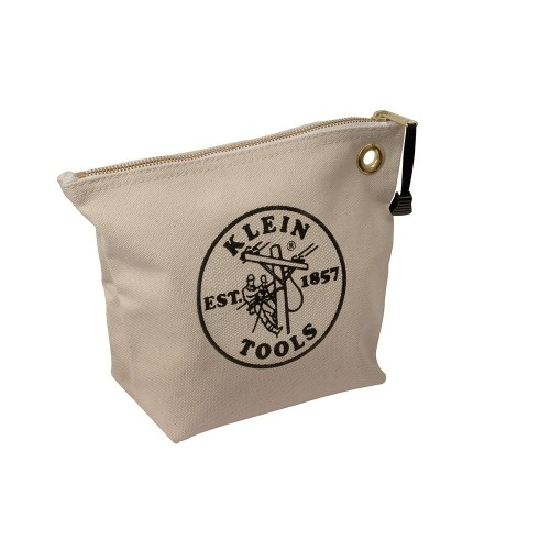 Klein Zipper Bag - Features Heavy-Duty Brass Zipper, Brass Grommet for Hanging or Attaching to Belt or Clip
