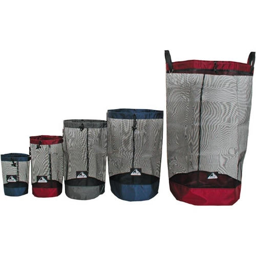 LM Net Stuff Sack - This unique and versatile stuff sack has all of the advantages of a mesh bag with the durability of a nylon bag.