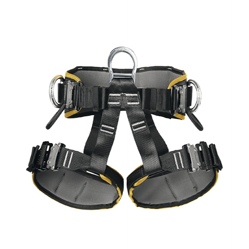 Singing Rock Sit Worker 3D Harness - Fully adjustable sit harness for work positioning with two lateral and one descender attachment points.