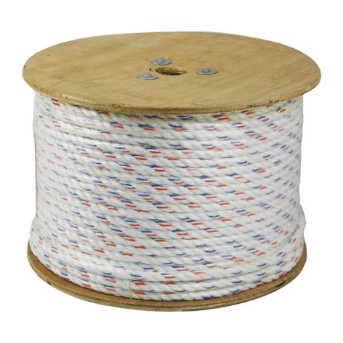 Polydacron Rope - This premium 3 Strand Poly-Dacron Combination rope has a high density polyester fiber wrapped cover over polyolefin core yarns and is made from premium grade U.V. stabilized polypropylene fiber.
