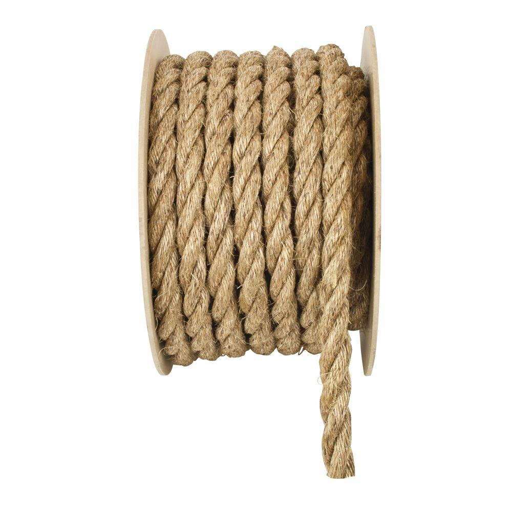 3 Strand Manila Polypropylene Rope - This 3 strand twisted polypropylene rope has the natural look and firm grip of manila but is lightweight and longer wearing.