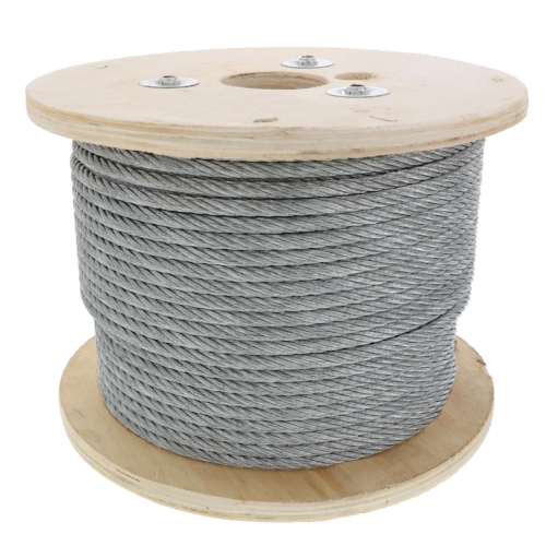 6×26 Aircraft Cable- 1/2″ - It is typically used for making slings, chokers and winch lines. This makes it good for many type of permanent outdoor installation.