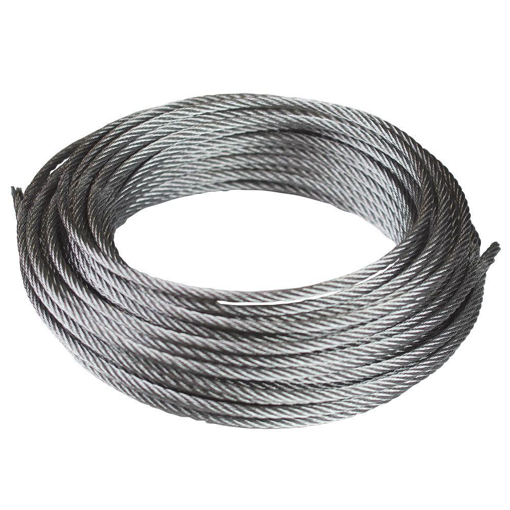 7×19 Aircraft Cable- 3/8″ - Often used for fall protection zip line systems, and challenge course construction.