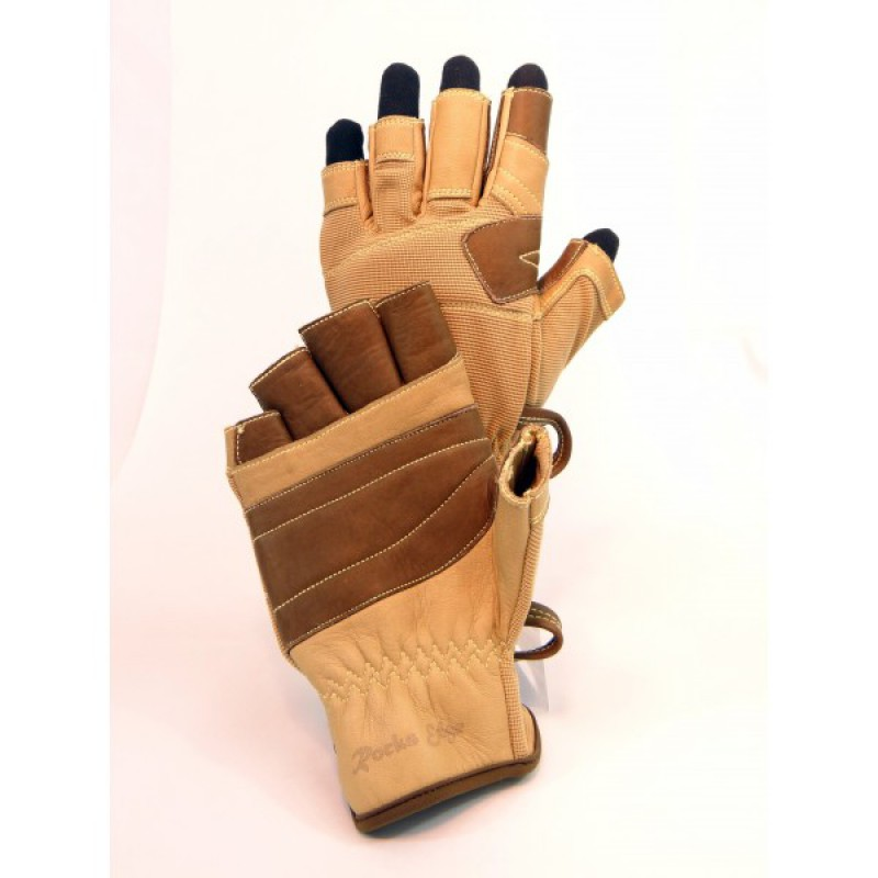 Rocks Edge Zip Line Pro Fingerless Glove - These gloves are easily attached on harness gear loops using the carabiner loop on each glove.