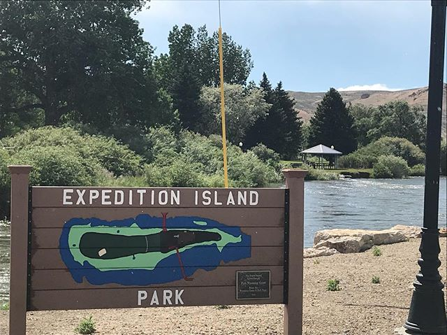 #expeditionisland in Green River Wyoming is where John Wesley Powell launched in 1869. #scree team will be back next May to depart on the expedition!