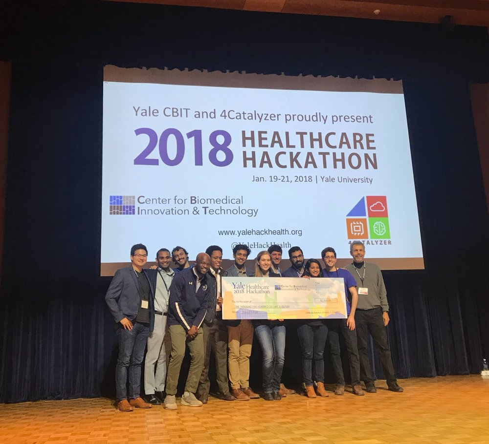 Bene wins the Tsai CITY Challenge at the Yale Healthcare Hackathon.
