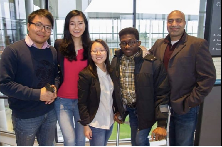 Wei Liu, Co-Founder/Chief Science Officer; Amy Kao, Co-Founder/Chief Marketing Officer; Anna Hwang, Director of eCommerce Analytics and Client Engagement; Daniel Adereti, MAM Class of 2017; Ankur Kapadia, President; not pictured: Adebayo Alonge, Co-Founder