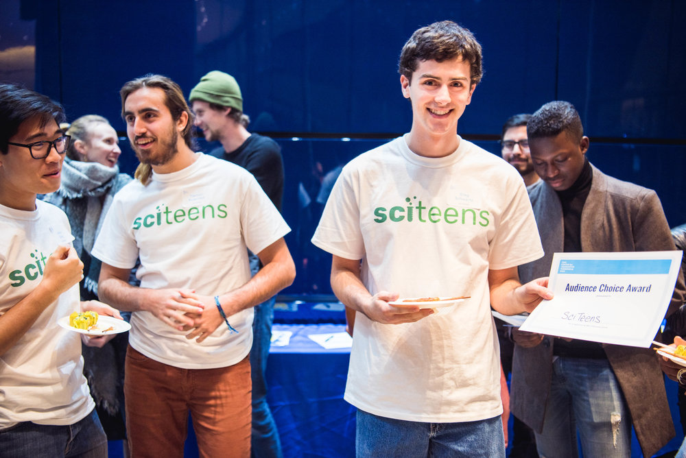 SciTeens won the audience choice vote.