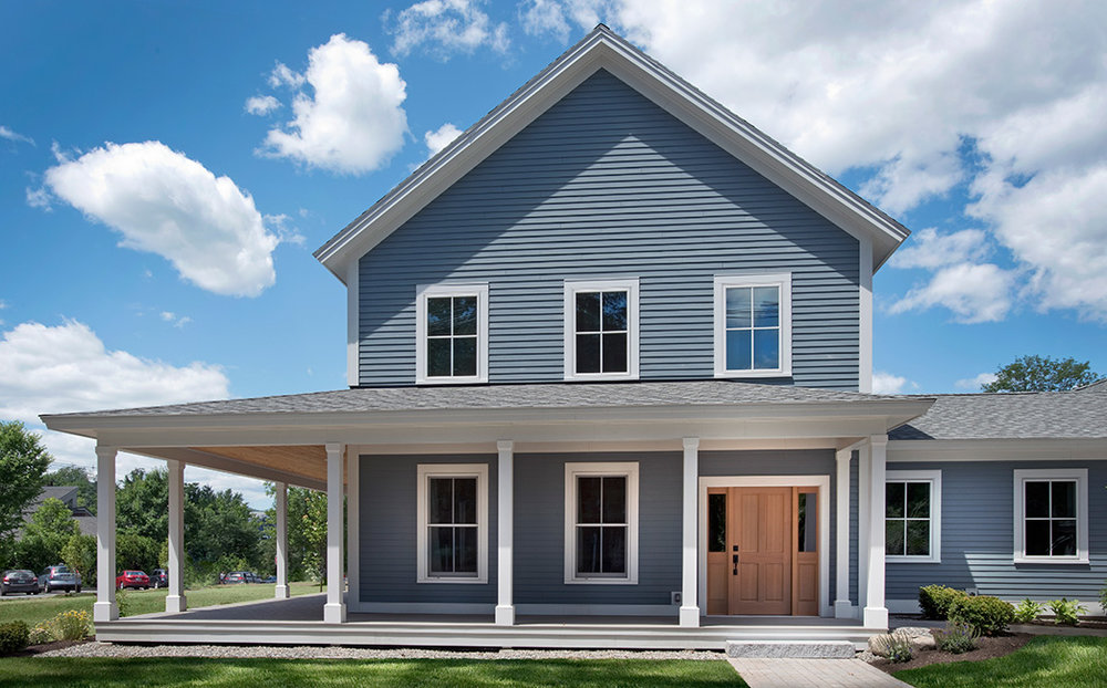 This Tradd home model offers an optional porch, breezeway and garage. Many options are available to homeowners buying at Douglas Ridge.