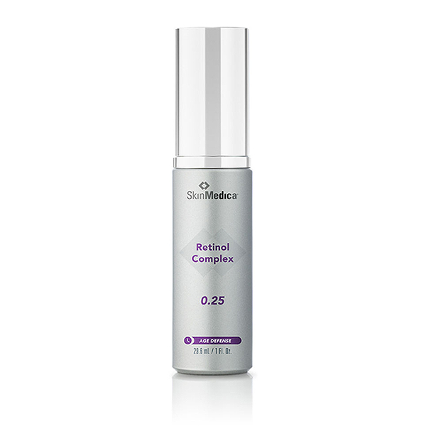Retinol Complex 0.25  Renews skin and diminishes the appearance of fine lines.  Appropriate for all skin types.