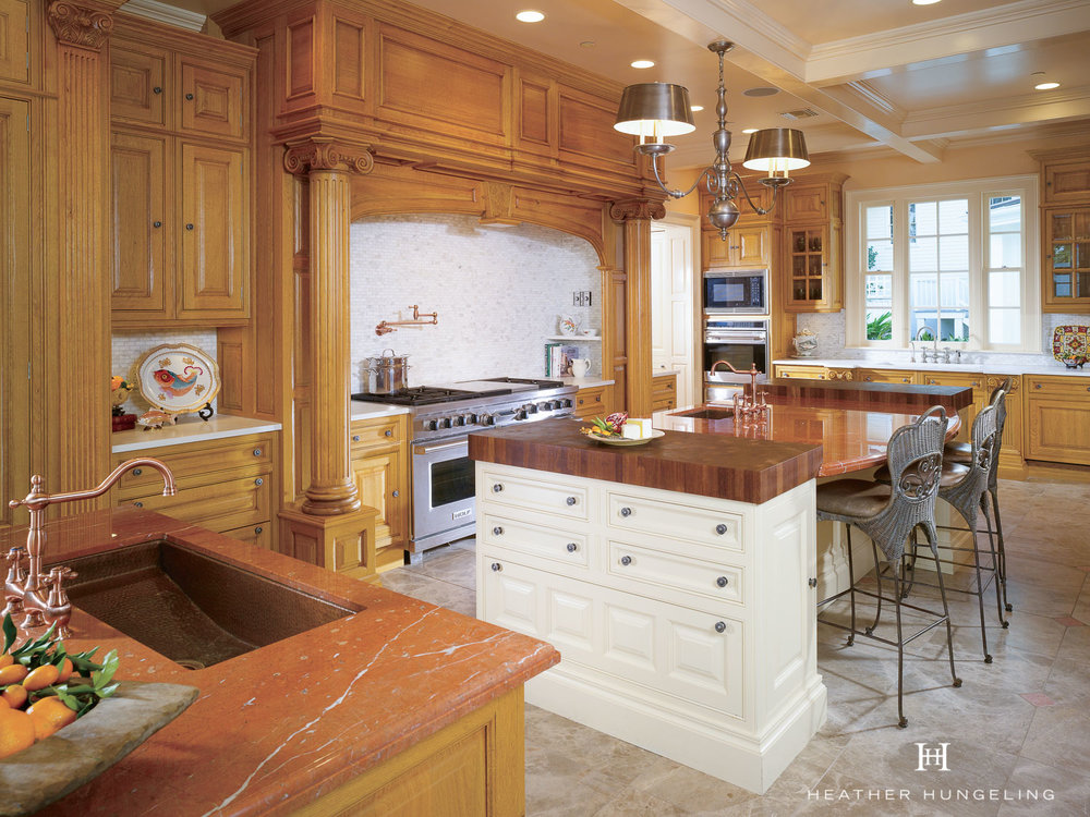 Clive Christian French Oak Kitchen with two islands in Louisiana