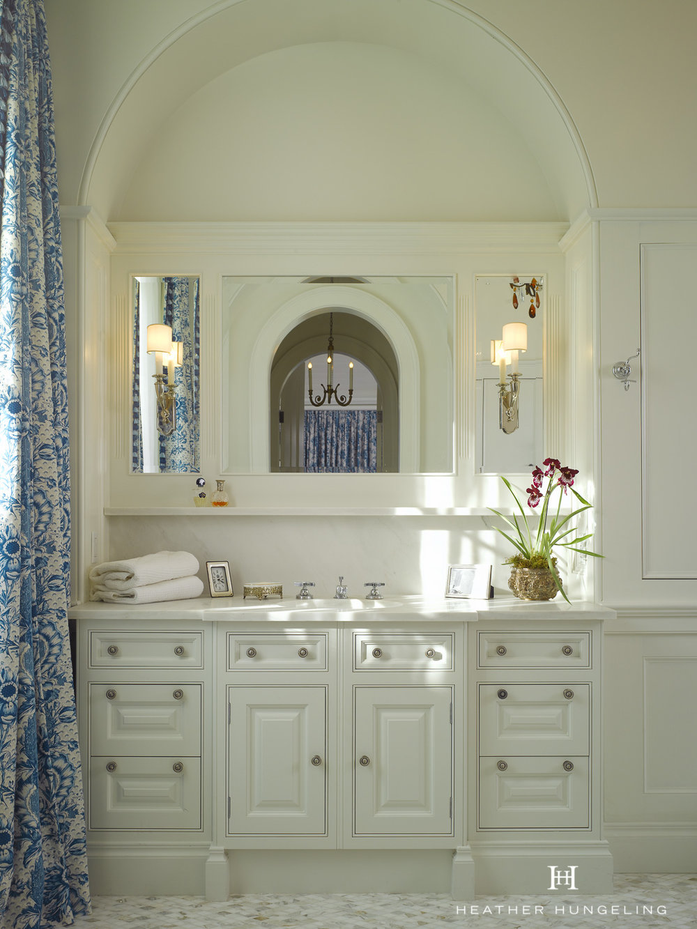 View the master bathroom for this project