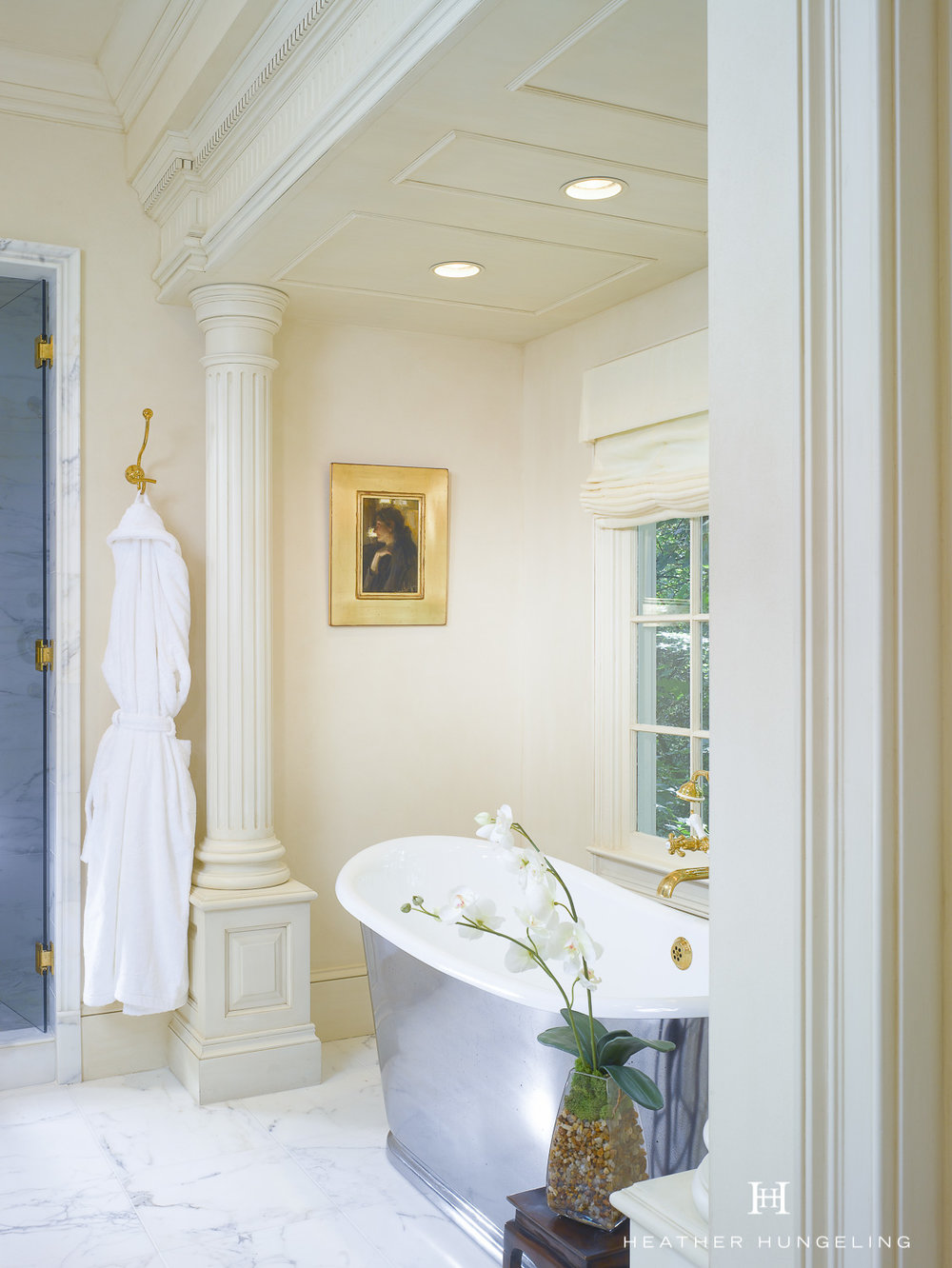 A Romantic Luxury Bathroom for Two in Atlanta — Hungeling Design