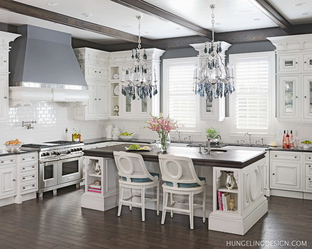 This luxury white kitchen featuring Clive Christian cabinetry has rich and classic details that distinguish it from the many white kitchen you see out there today.