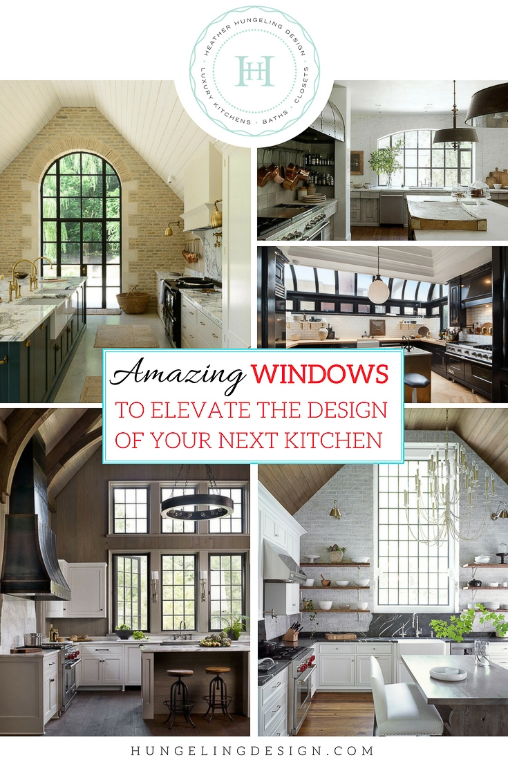 "While the ""kitchen window"" was rarely something to gawk at a decade ago, nowadays, there are tons of show-stopping images with dramatic large kitchen window design ideas to inspire us. So in this week's post, I'm going to specifically address the   design considerations   of selecting a window to elevate the overall style of your kitchen."