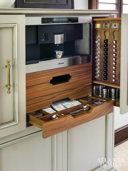 Incorporating a built-in coffee maker is a nice touch for a dream kitchen.  This one is by Miele and it can be built into custom cabinetry - you can also conceal them behind cabinetry doors.
