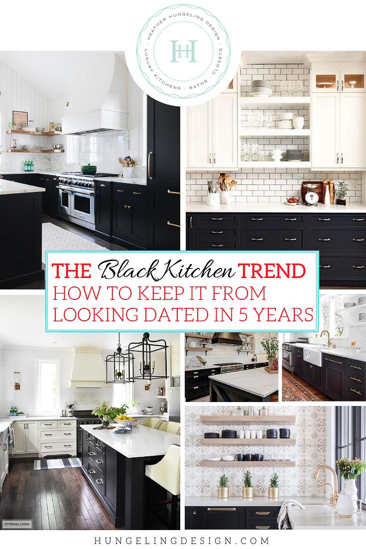 The Black Kitchen Cabinet Trend Heather Hungeling Design